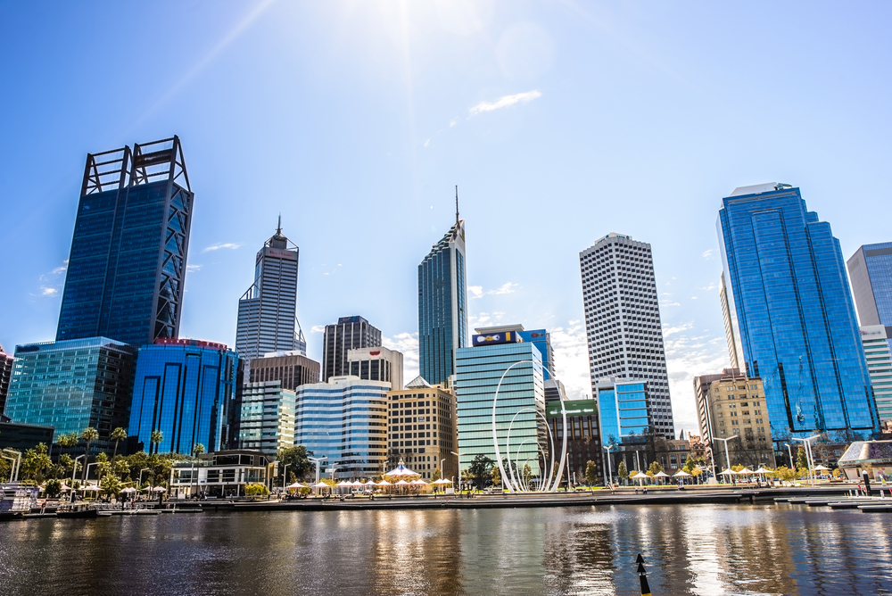 This is Perth on a sunny day.