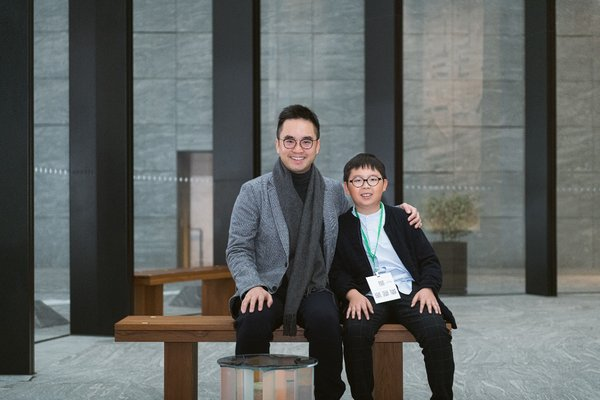 Mr Adrian Cheng, Executive Vice-Chairman and General Manager of New World Development and Founder of K11 Group and Culture for Tomorrow, and Mr. Lance Lau, 10 year-old climate activist
