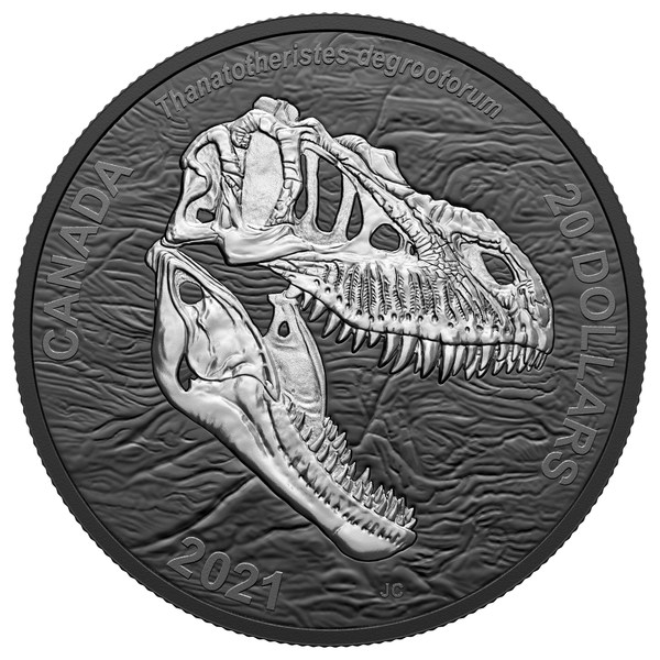 """The Royal Canadian Mint's black rhodium plated coin featuring the """"Reaper of Death"""""""